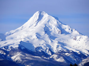 Oregon's Mt. Hood is one of three volcanoes in the Columbia River Gorge Region