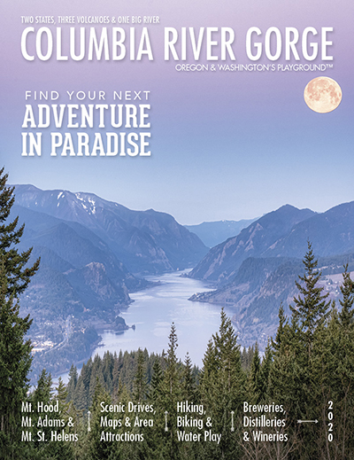 Cover of the 2020 Columbia River Gorge visitor magazine