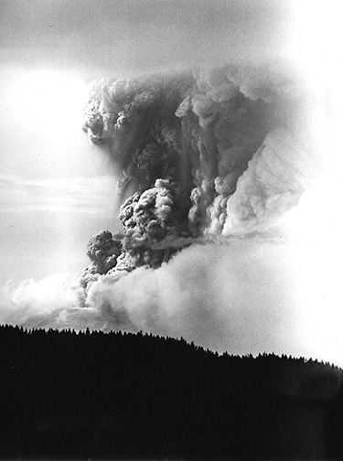 Mt. St. Helens volcanic eruption on May 18, 1980