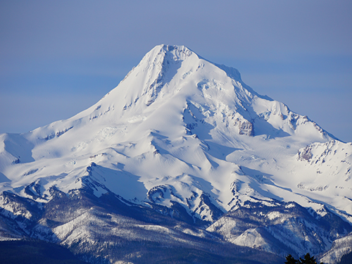 Mt. Hood is Oregon's highest peak and most well-known of the Cascade's volcanoes
