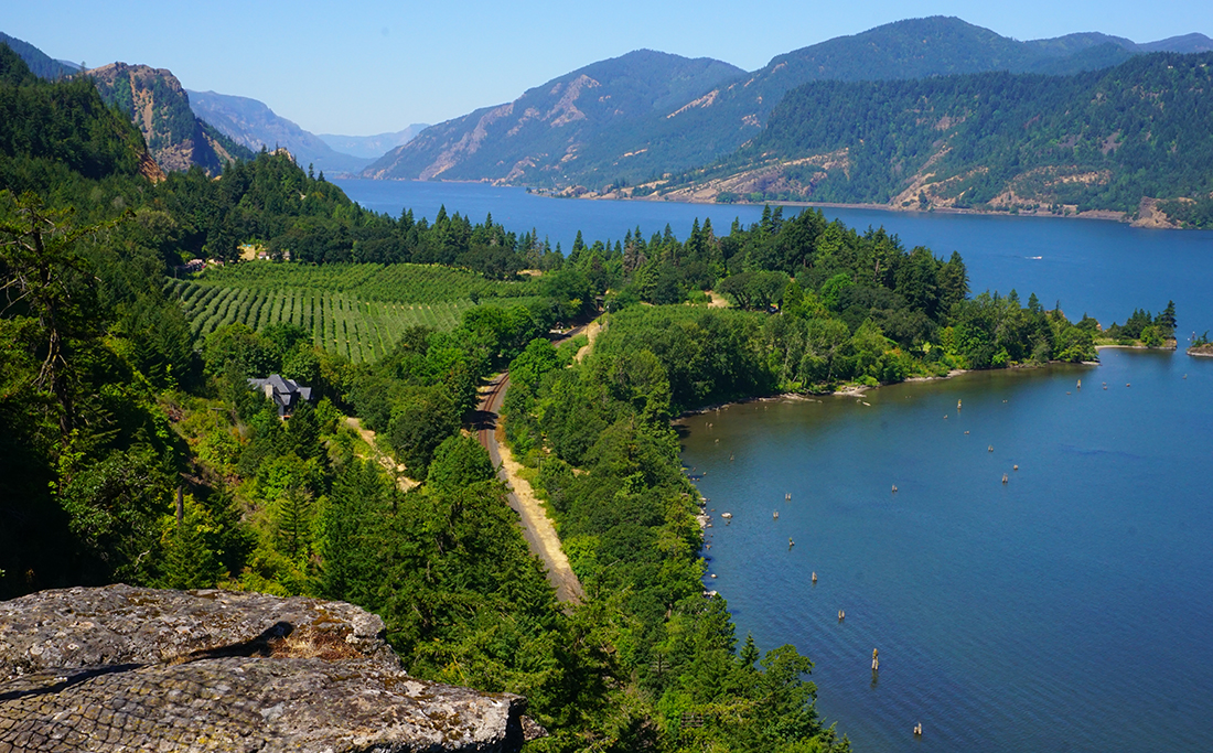 View of the Columbia River Gorge, a paradise offering outdoor recreation, waterfalls, incredible views and communities.
