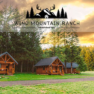Explore serene beauty of Wind Mountain Ranch with its seven cozy cabins, private hiking trails and views of the Gorge